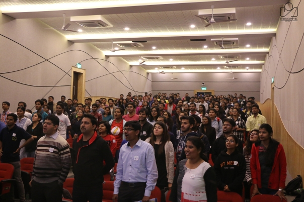 Audience for our talk at a National College_ML
